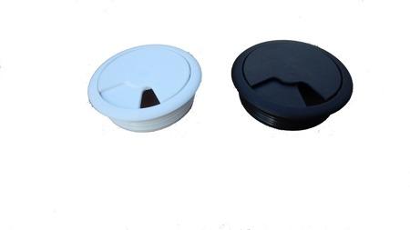 Biurko Gamingowe Standard czarno-szare z przelotką na kabel i led