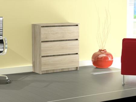 Komoda Rico 3 szuflady kolor sonoma 70cm