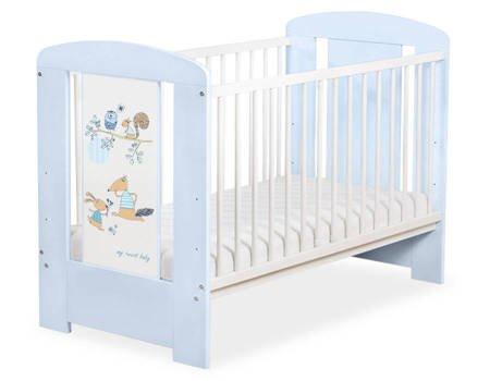 Łóżeczko 120x60cm Niebiesko-białe Friends 5019-03-671