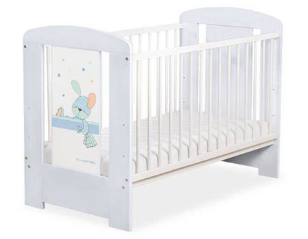Łóżeczko 120x60cm Szaro-białe Dreamy bunny 5019-06-676