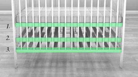 Łóżeczko Alek z szufladą 120 x 60 kolor biały