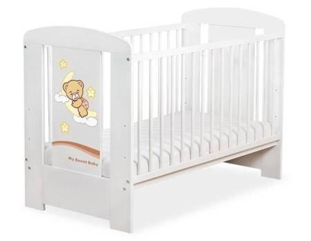 Łóżeczko Dobranoc 120x60cm Biało-brązowe 5009-07-809
