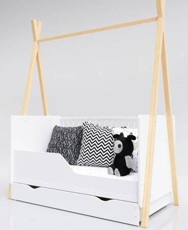 Łóżeczko Tapczanik Tipi 140x70 Sosna z szufladą