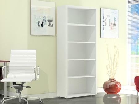Regał biurowy wysoki 182 cm, G 80, szerokość 80cm kolor biały