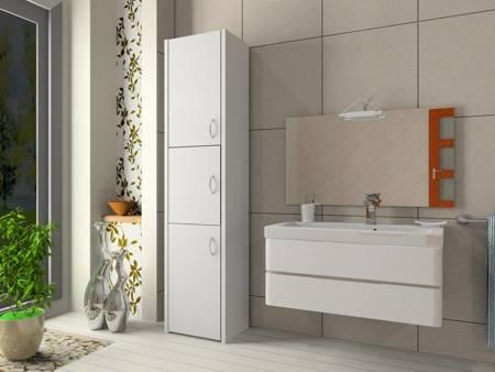 Słupek łazienkowy Adaś 3D 30 cm Biały