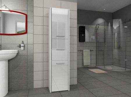Słupek łazienkowy LUNA 30 3D Biały Połysk